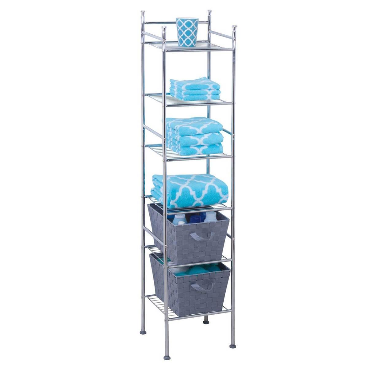 منظمات الحمام- الأرفف بالقوائم المعدنية