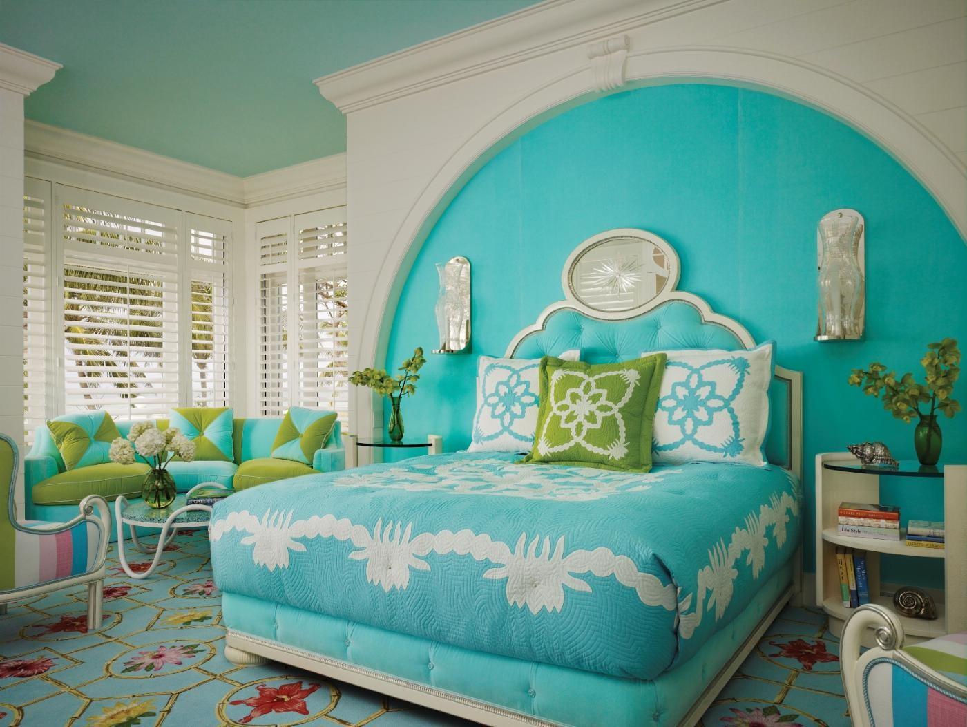 بالصور غرف نوم باللون التركواز- غرف نوم بالتركواز الفاتح