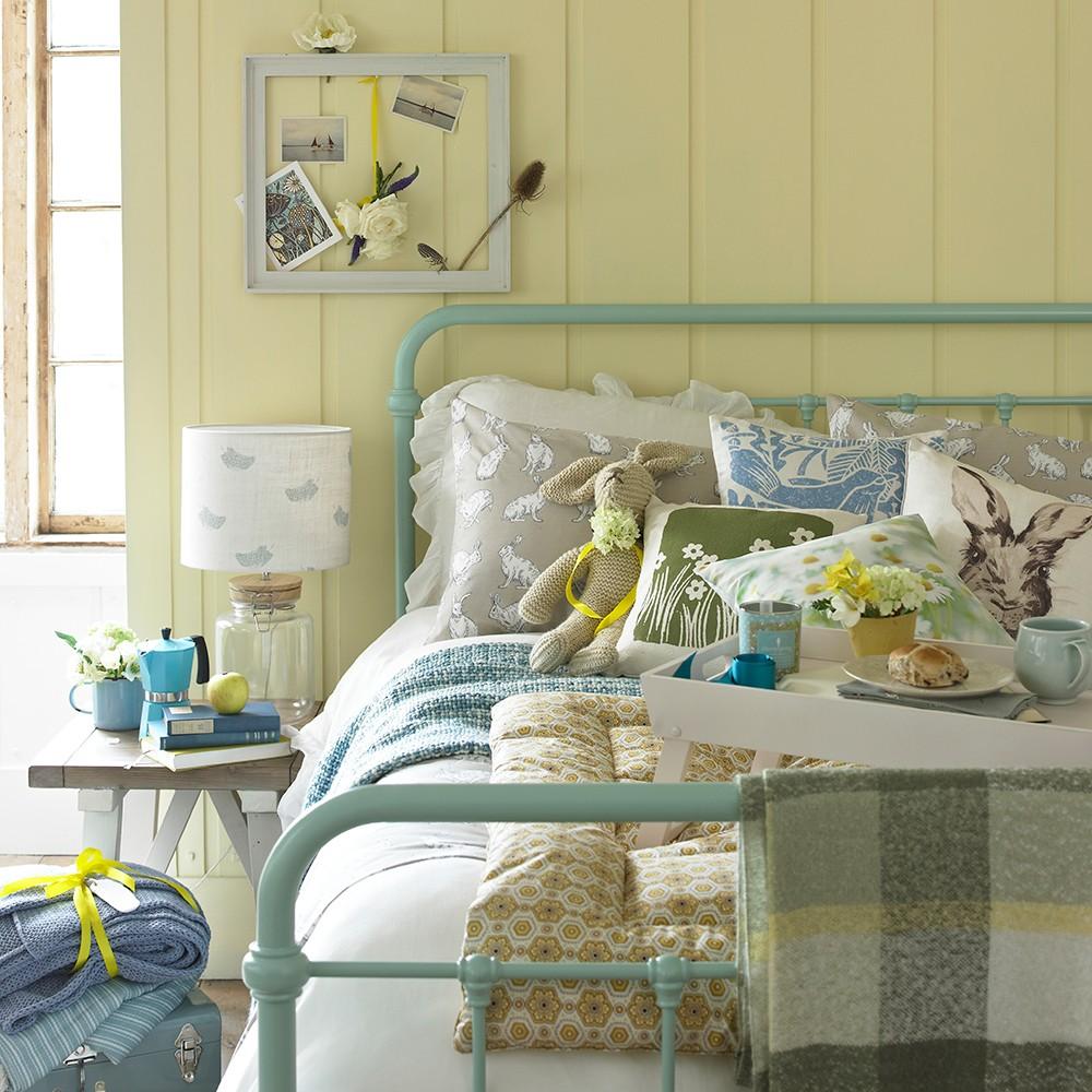 بالصور غرف نوم باللون الأصفر- الأصفر الكريمي