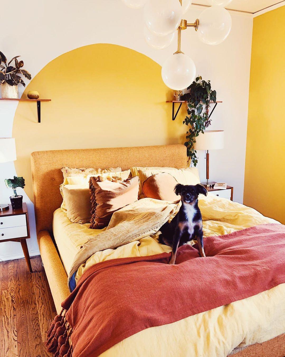 بالصور غرف نوم باللون الأصفر- الأصفر الحمصي