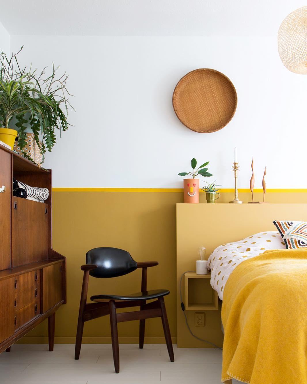 بالصور غرف نوم باللون الأصفر- أصفر مستردة