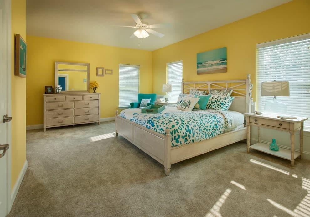 بالصور غرف نوم باللون الأصفر- الأصفر الفاتح