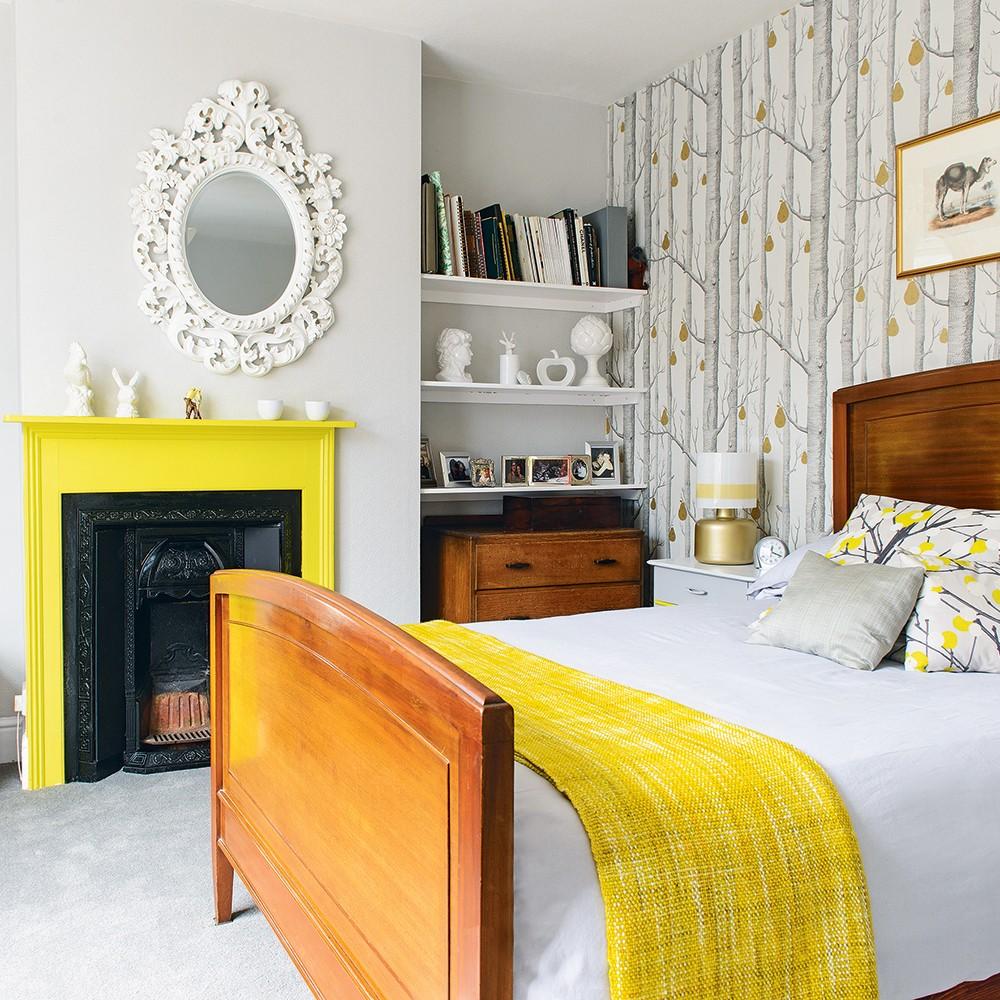 بالصور غرف نوم باللون الأصفر- لمسة بسيطة من الأصفر
