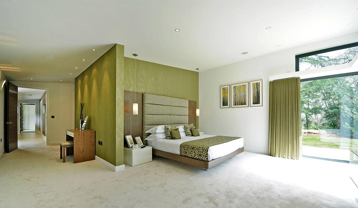 بالصور غرف نوم باللون الأخضر- الأخضر الزيتوني