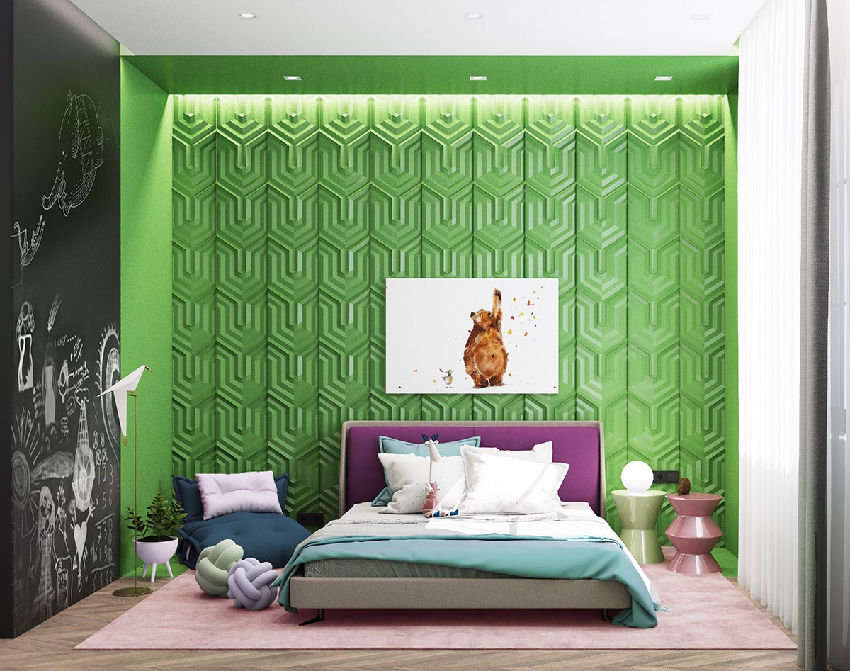بالصور غرف نوم باللون الأخضر- الأخضر الزرعي