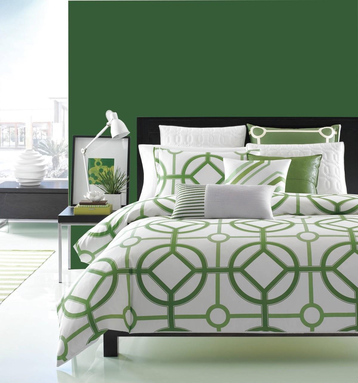 بالصور غرف نوم باللون الأخضر- الأخضر المطفي