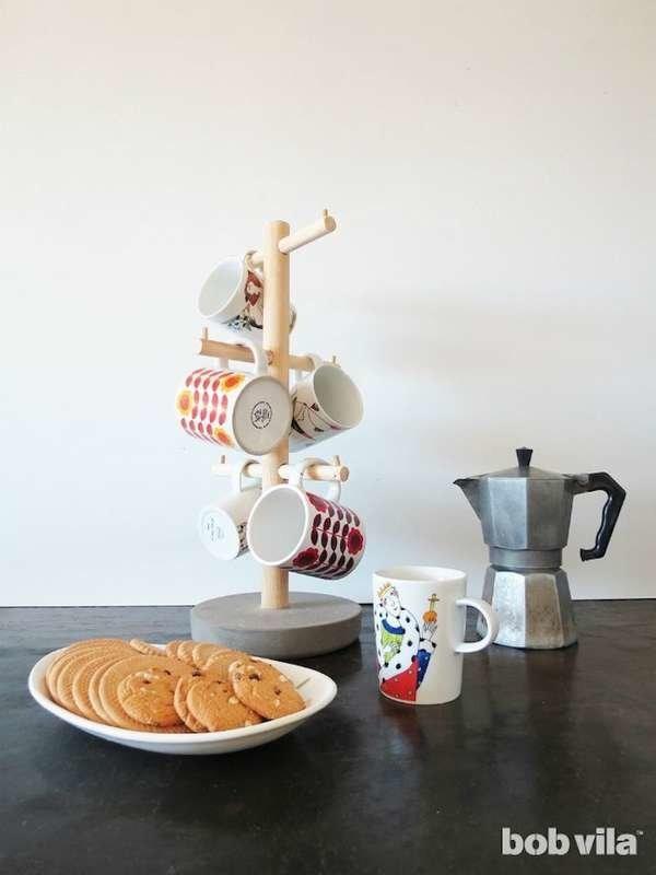 ركن القهوة في المنزل- ركن قهوة بسيط