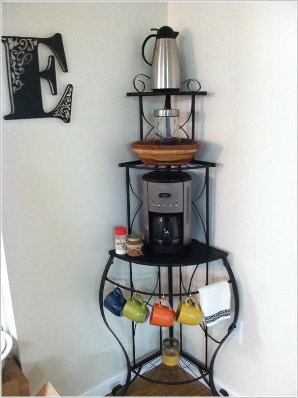 ركن القهوة في المنزل- ركن القهوة في زوايا الغرفة