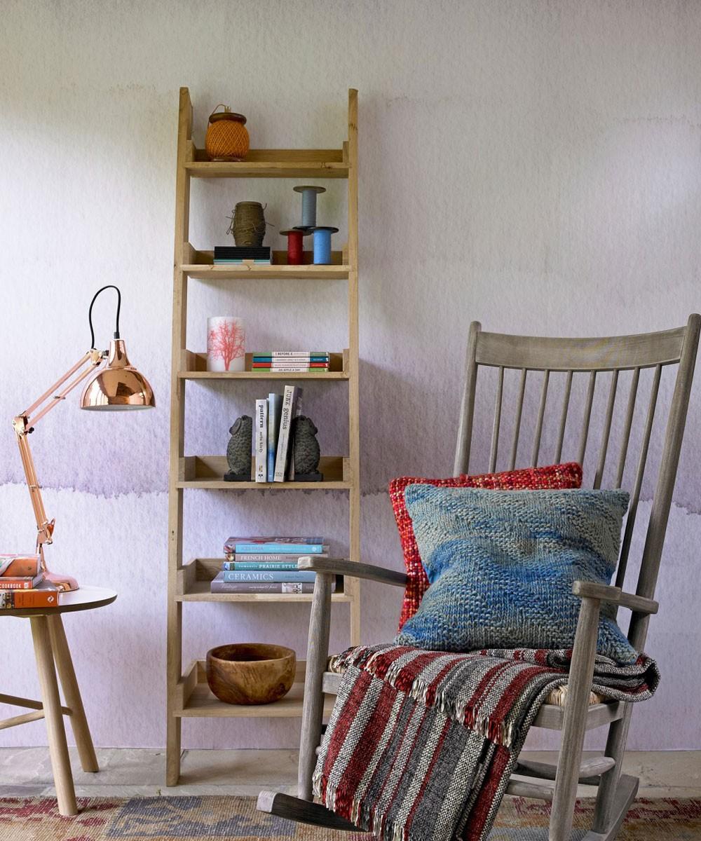 غرفة المعيشة باللون الموف- صيحة الموف الأومبري