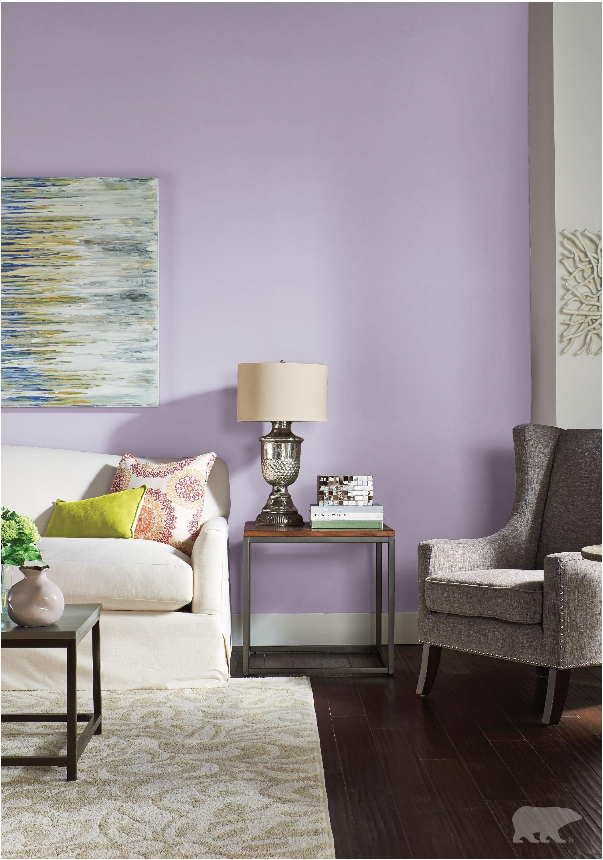 غرفة المعيشة باللون الموف- درجة اللافندر