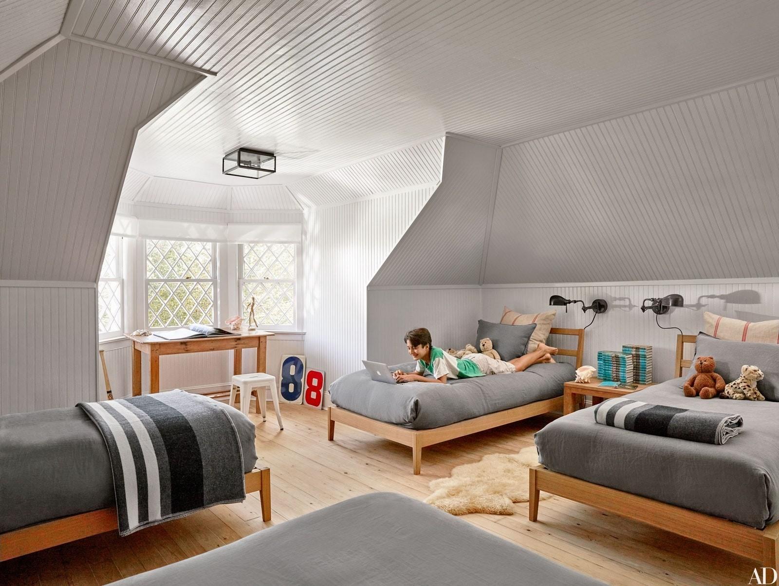 ألوان دهانات مناسبة لغرف أطفال أولاد- الرمادي