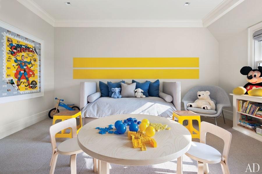 ألوان دهانات مناسبة لغرف أطفال أولاد- الأصفر