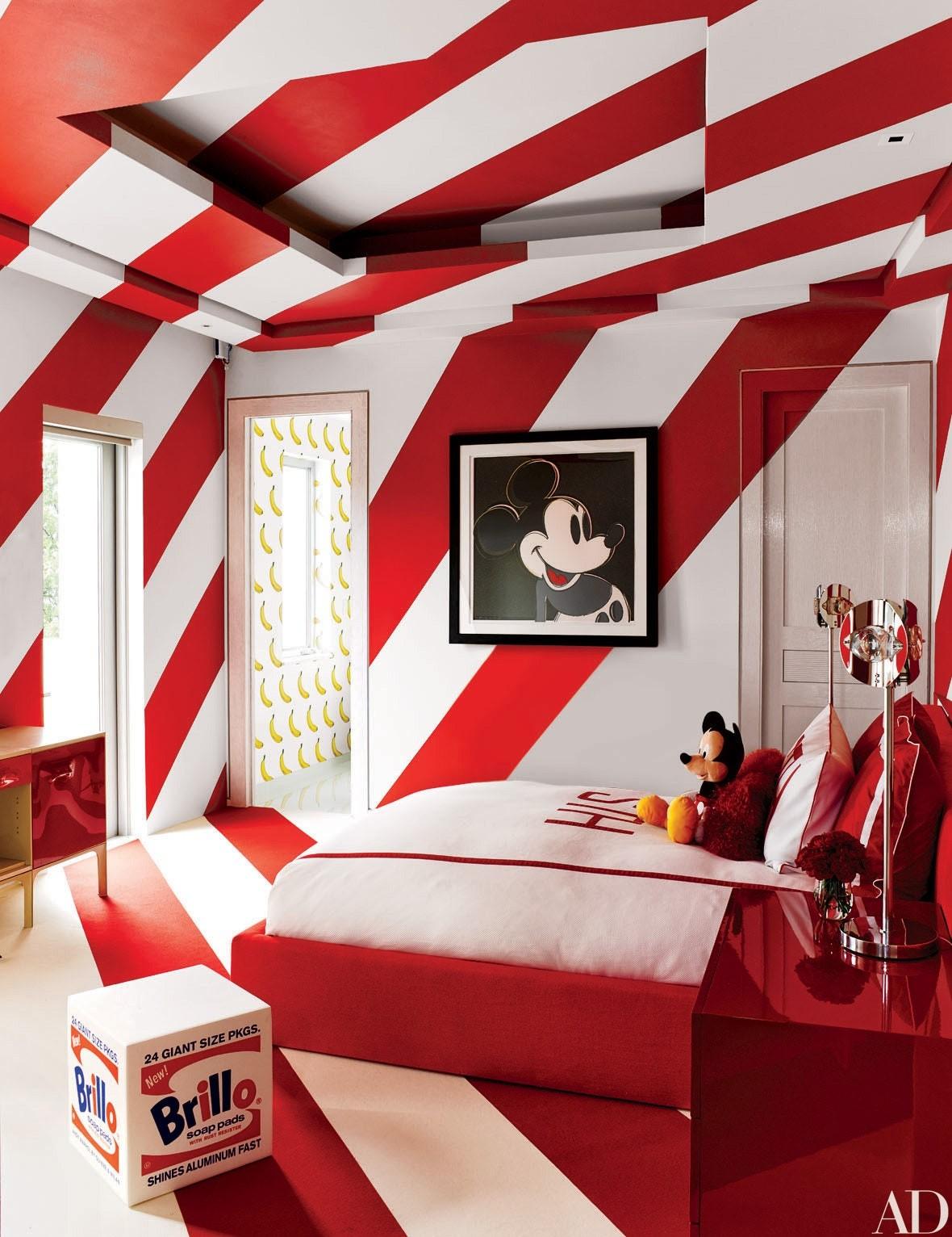 ألوان دهانات مناسبة لغرف أطفال أولاد- مزيج من الأحمر والأبيض