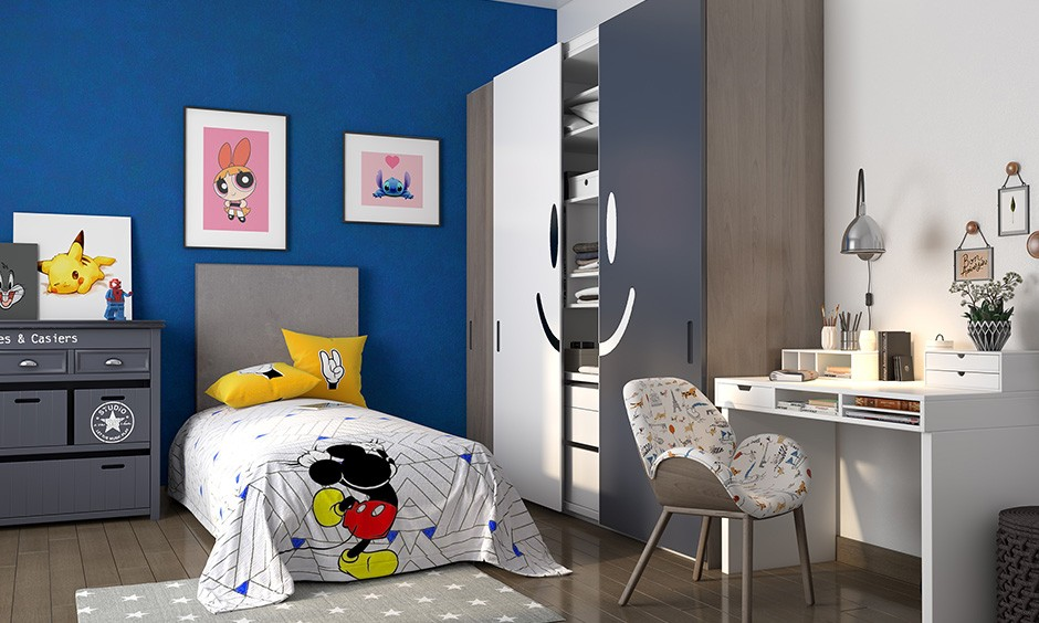 ألوان دهانات مناسبة لغرف أطفال أولاد- الطلاء المطفي