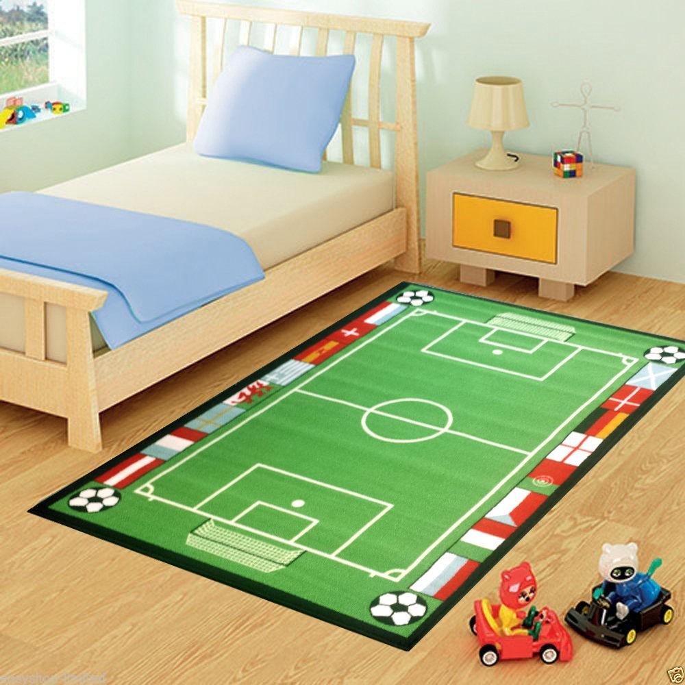 ديكور غرف نوم أطفال جزائرية- سجادة كرة القدم