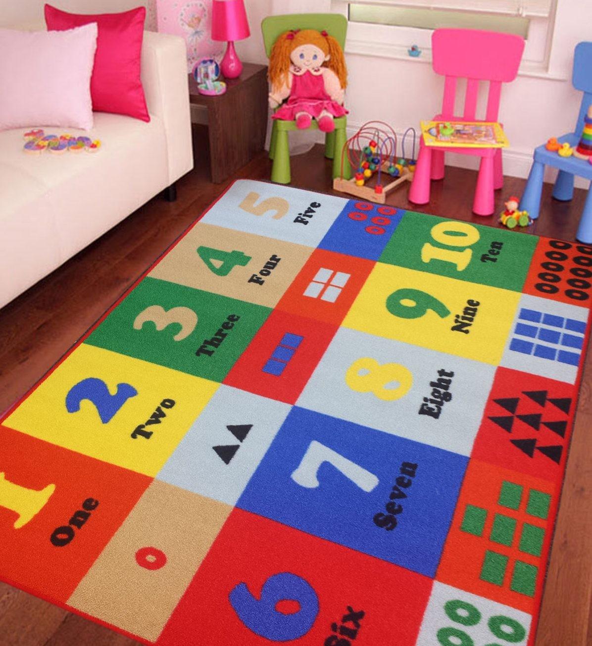 ديكور غرف نوم أطفال جزائرية- السجادة التعليمية