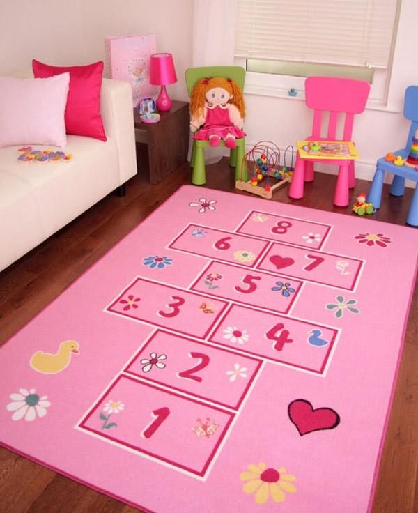 ديكور غرف نوم أطفال جزائرية- سجادة لعبة