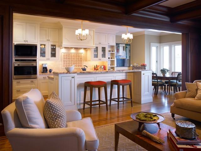 مطابخ أمريكية مفتوحة على الصالة- المطبخ الأمريكي الكلاسيكي