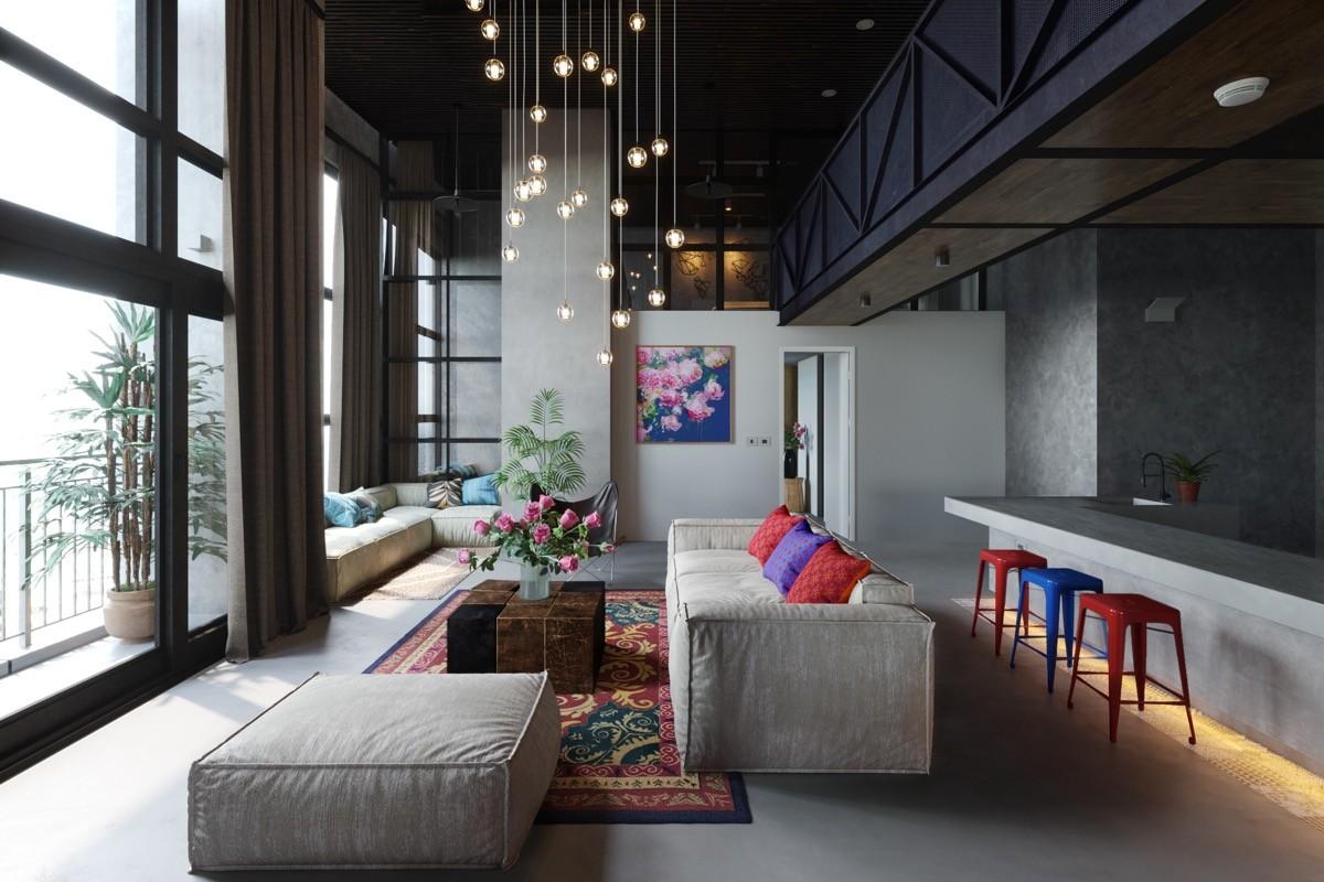 أشكال غرف معيشة مودرن- التناغم في غرفة المعيشة
