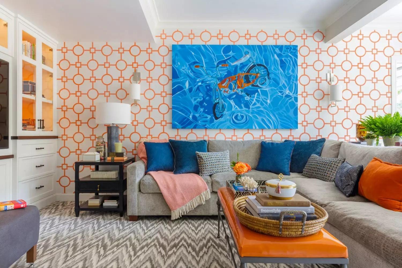 أشكال غرف معيشة مودرن- الألوان في غرفة المعيشة