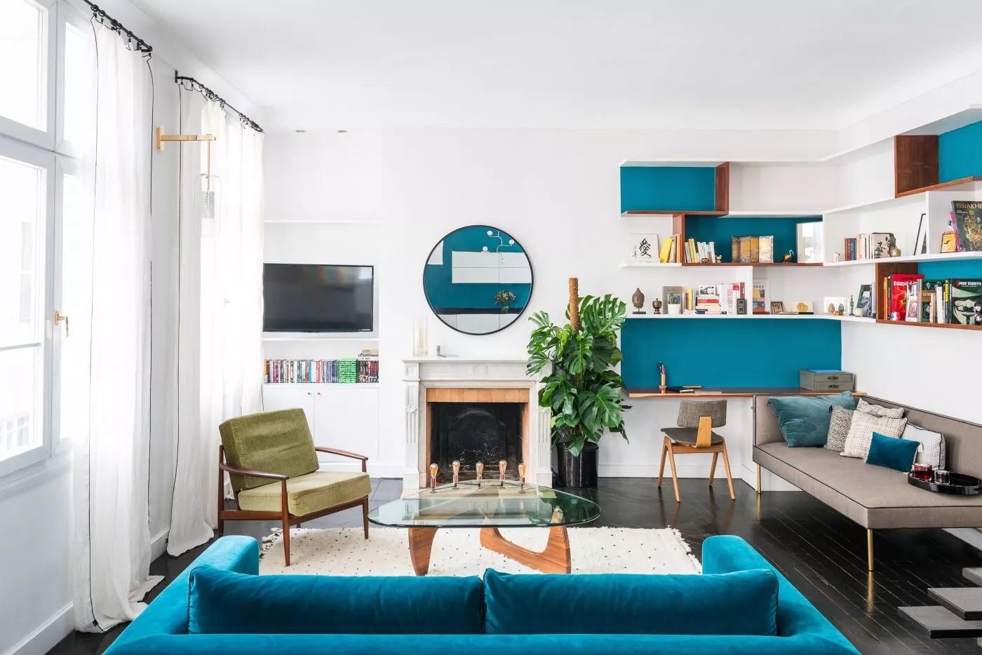 أشكال غرف معيشة مودرن- الأثاث في غرفة المعيشة