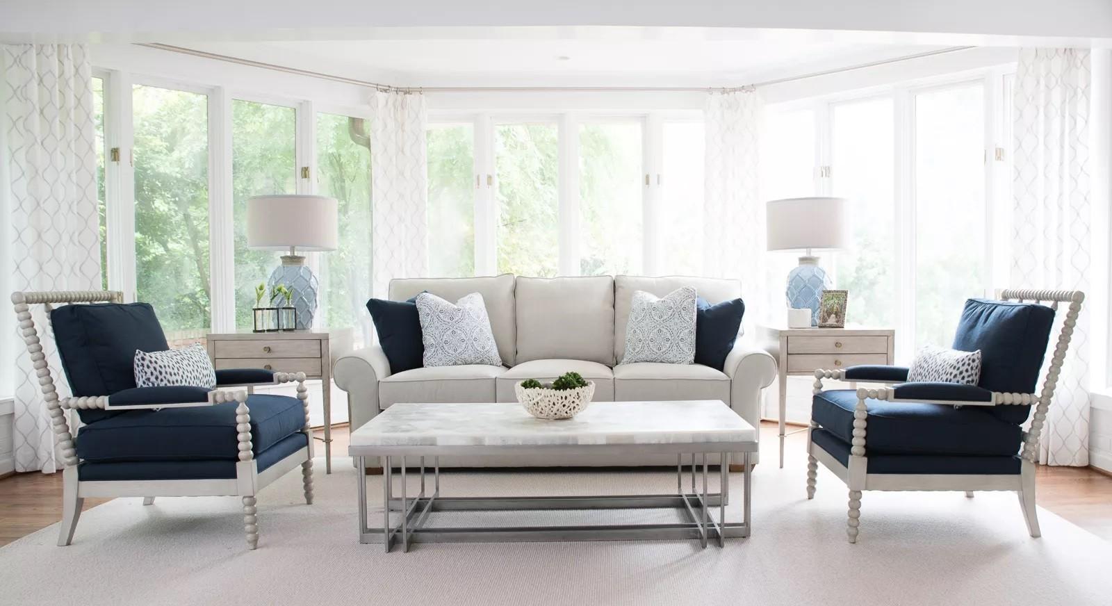 أشكال غرف معيشة مودرن- الستايل العصري الكلاسيكي