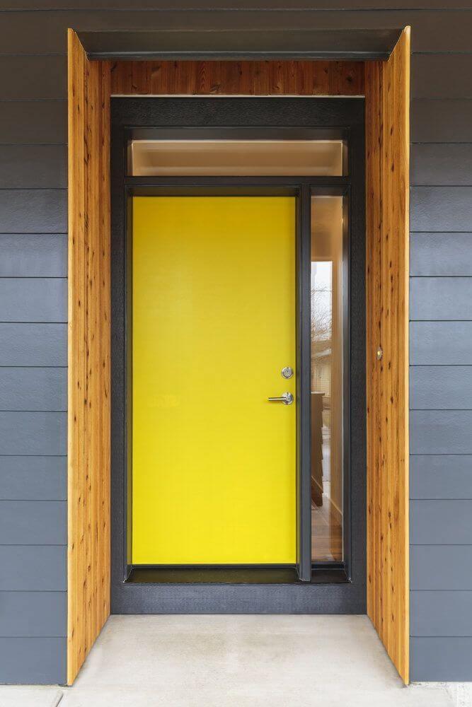 بالصور ديكور مدخل المنزل باللون الوردي- الأبواب الملونة