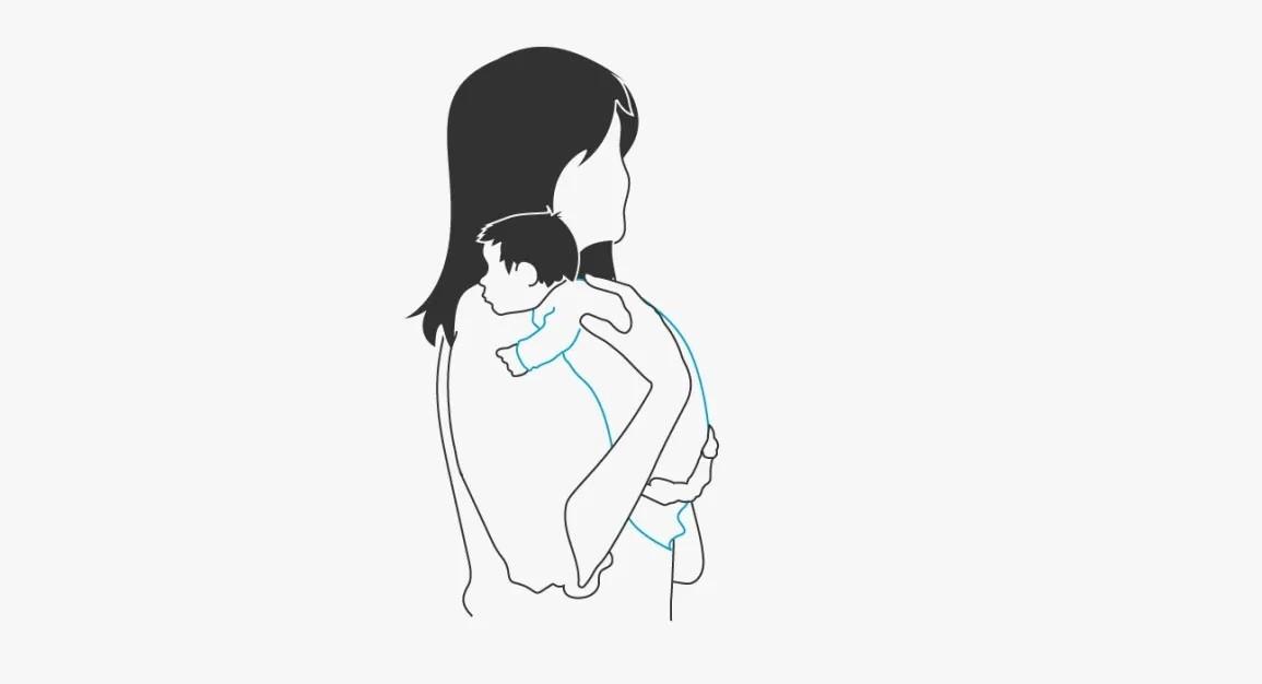 سبب عدم تجشؤ الرضيع- حمل الطفل في وضع قائم