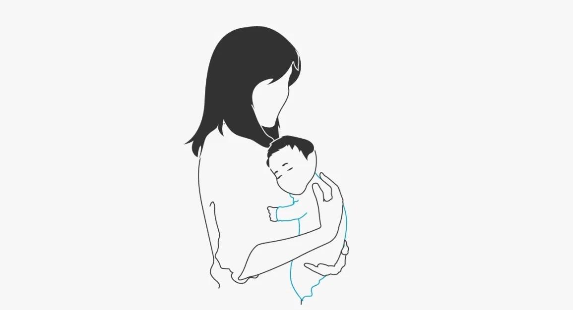 سبب عدم تجشؤ الرضيع- وضع الطفل في مواجهة الثدي
