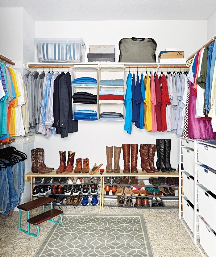أفكار لتقسيم خزانة الملابس من الداخل- استخدام وحدات التنظيم