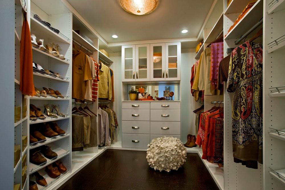 أفكار لتقسيم خزانة الملابس من الداخل- غرفة الملابس المنفصلة