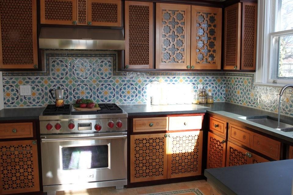 ديكور المطبخ المغربي- الأرابيسك في المطبخ المغربي