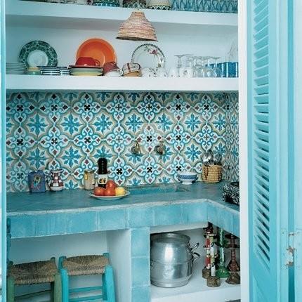 ديكور المطبخ المغربي- الألوان في المطبخ المغربي