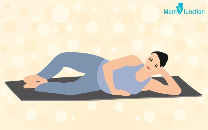 الرياضة أثناء الحمل- تمرين دعم البطن