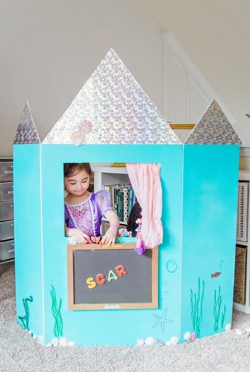 مسرح عرائس للأطفال- مسرح بتصميم قلعة بحر