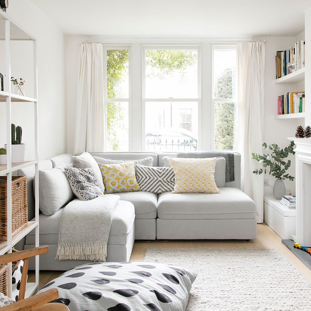 ديكور صالة صغيرة- اختيار الركنة