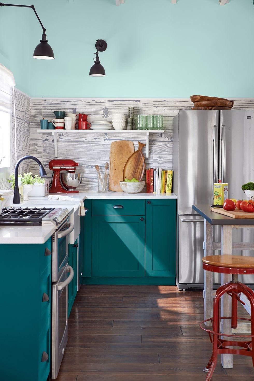 ديكور مطبخ جبس- ألوان الخزائن