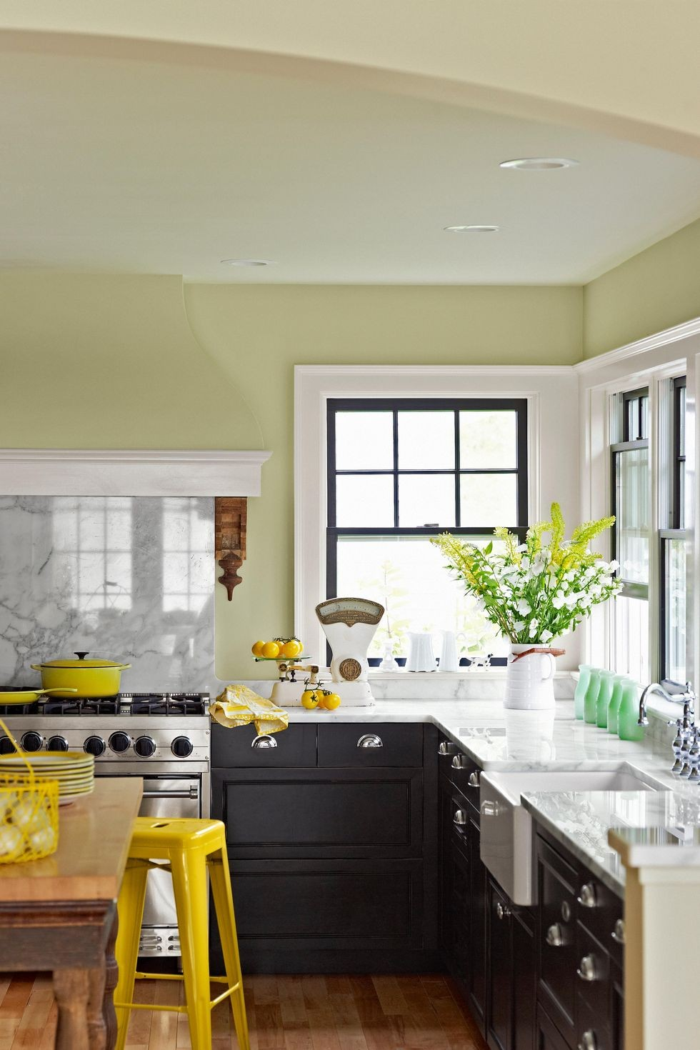 ديكور مطبخ جبس- ألوان الجدران