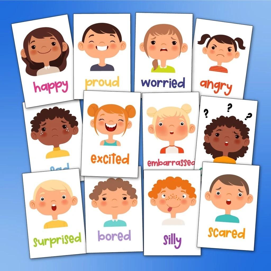 ألعاب للأطفال ذوي الاحتياجات الخاصة- كروت المشاعر