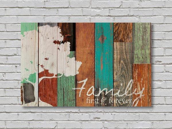 ديكورات خشب للمنزل- اللوحات الخشبية الملونة