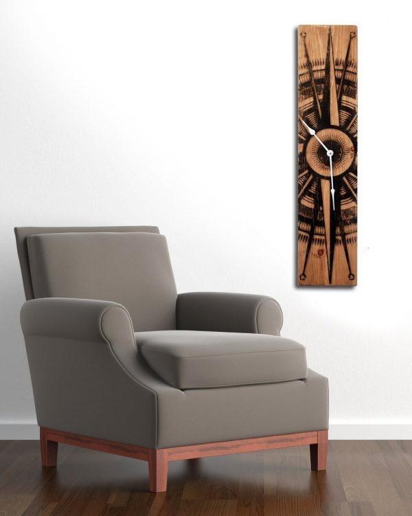 ديكورات خشب للمنزل- الساعات الخشبية