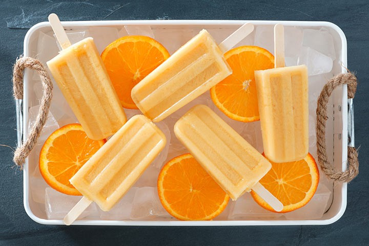 عصير البرتقال للرضع- مثلجات الزبادي والبرتقال