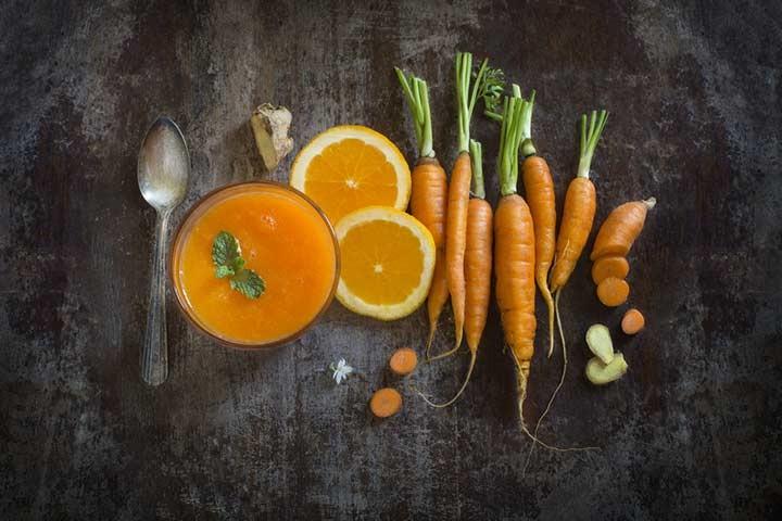 عصير البرتقال للرضع- عصير البرتقال والجزر