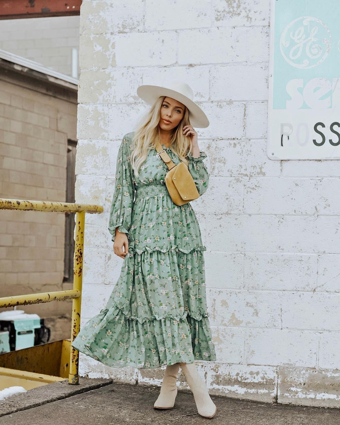 موضة ملابس الربيع 2021- الفستان الماكسي