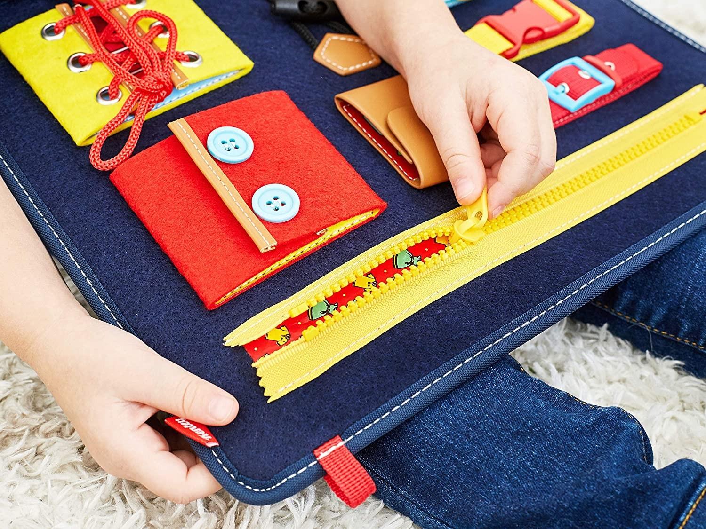 ألعاب للأطفال ذوي الاحتياجات الخاصة- لوحة المهارات اليومية