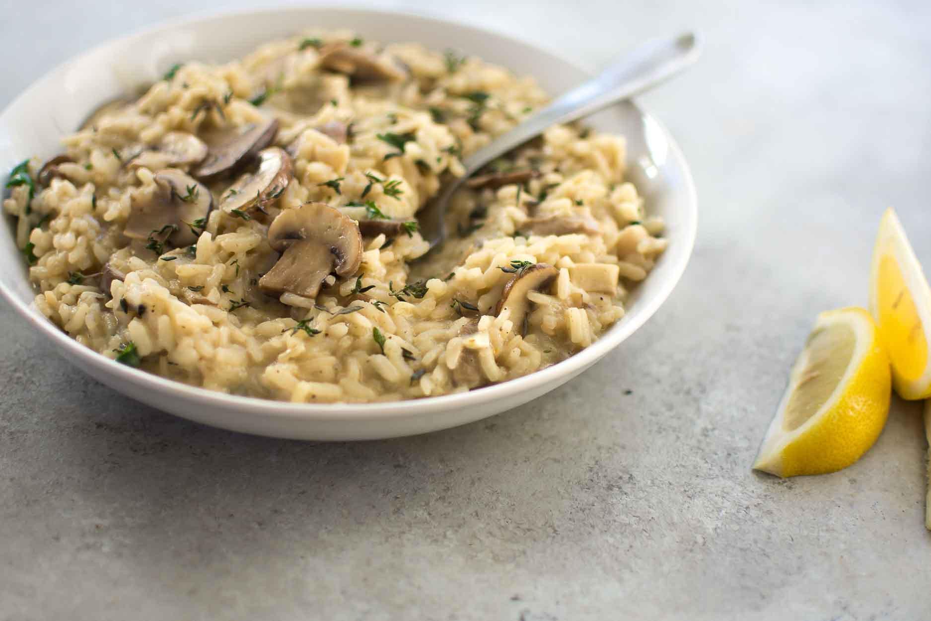 البهارات الإيطالية - طريقة عمل أرز ريزتو بالمشروم