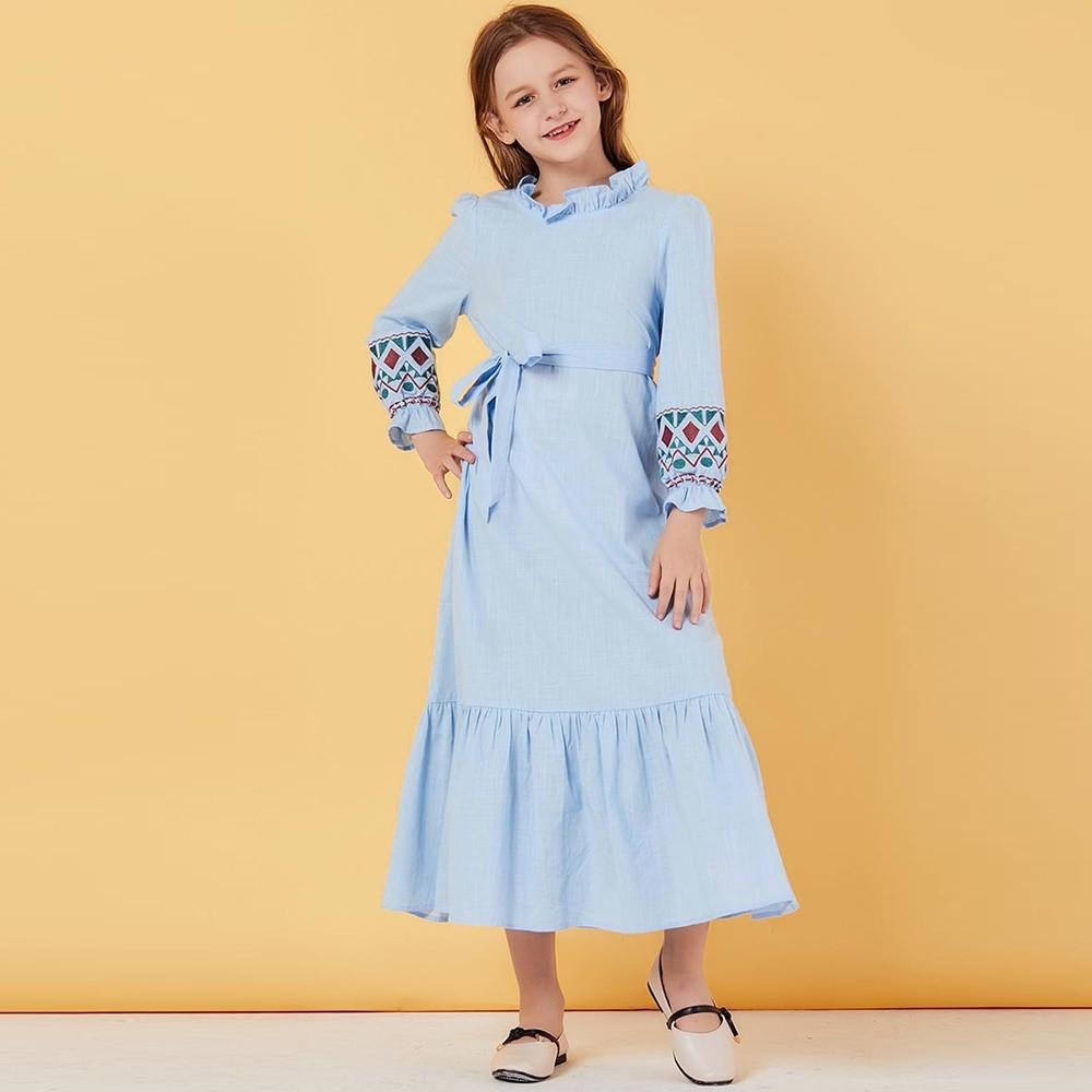 ملابس رمضانية للبنات الصغار - فستان بناتي طويل