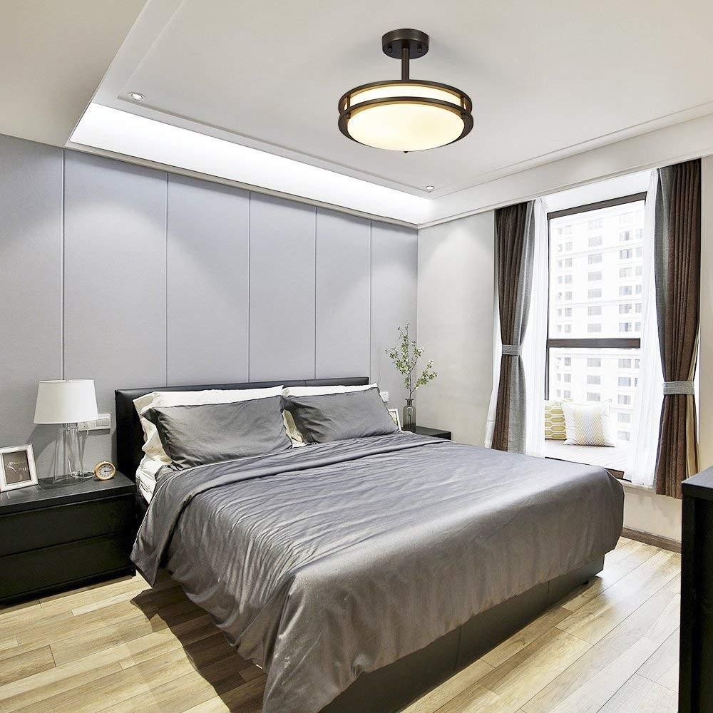 أشكال إضاءة غرف النوم - نجفة غرفة النوم