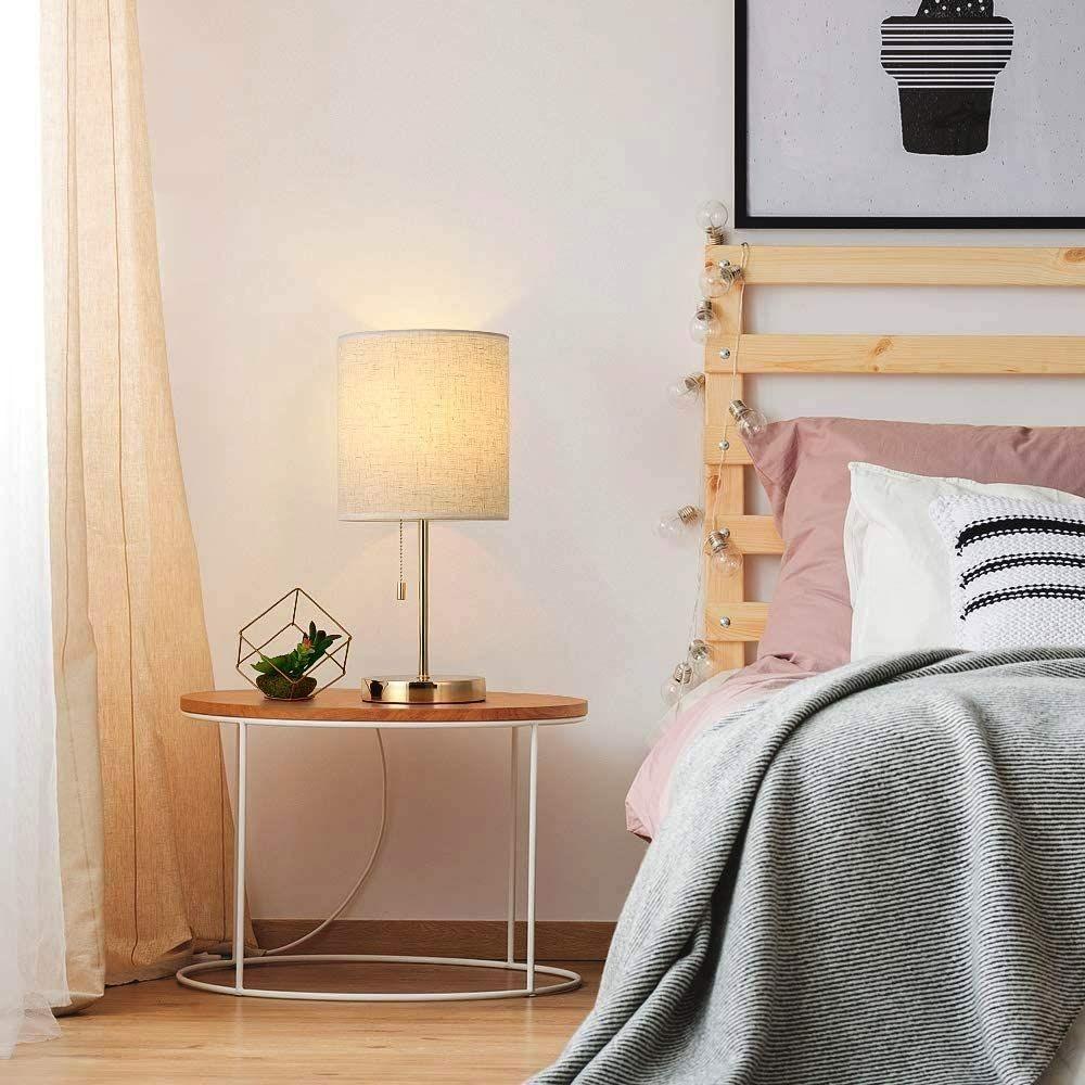 أشكال إضاءة غرف النوم - مصباح جانبي