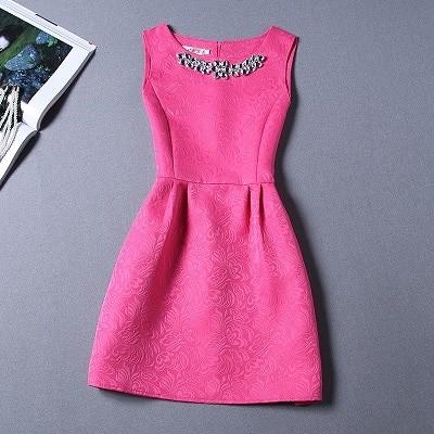 فساتين سهرة قصيرة للمراهقات - فستان فوشيا